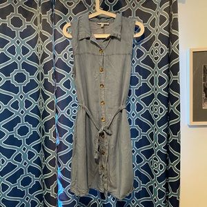 Denim button down summer dress